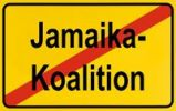 Thumbnail End of town sign, symbolic image for the end of the Jamaican coalition, CDU, FDP and Die Gruenen