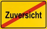 Thumbnail End of town sign, symbolic image for the end of confidence, Zuversicht