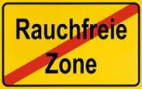 Thumbnail End of town sign, symbolic image for the end of No Smoking zones, Rauchfreie Zone