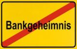 Thumbnail End of town sign, symbolic image for the end of confidentiality in banking, Bankgeheimnis