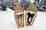 Thumbnail Snowshoes in the snow, Quebec, Canada, North America