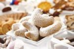 Thumbnail Vanillekipferl or Almond Crescents or Sand Tarts covered in caster sugar