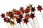Thumbnail Red and golden stars on sticks