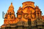 Thumbnail Baroquial cathedral in the evening sun Murcia Spain