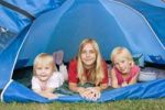 Thumbnail Three sisters, 5 years, 13 and 7 years old, in tent