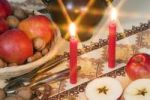 Thumbnail Christmas decoration with apples and candles