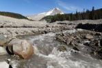 Thumbnail White River Gorge with Mount Hood volcano, Cascade Range, Oregon, USA