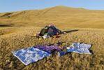 Thumbnail Tent, camping, Saljugem, Sailughem, Saylyugem Mountains, Tschuja Steppe, Altai Republic, Siberia, Russia, Asia