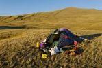 Thumbnail Tent, camping, Saljugern, Sailughem, Saylugem mountains, Tschuja Steppe, Altai Republic, Siberia, Russia, Asia