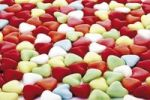 Thumbnail Meringue heart-shaped easter eggs, full frame