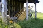 Thumbnail Hut and wooden cart, Fort de Chartres State Historic Site, Illinois, USA