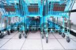 Thumbnail blue shopping trolley car