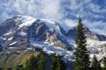 Thumbnail View of the Mount Rainier Glacier from the Nisqually Glacier View, Mount Rainier National Park, Washington, USA, North America