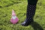 Thumbnail Rubber boots and garden gnome in the grass