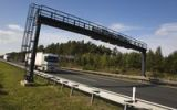 Thumbnail Lorry at a toll control station on a German motorway