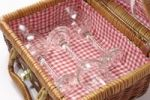 Thumbnail Picnic basket with wine glasses