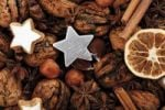 Thumbnail Silver star with Christmas decoration