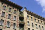 Thumbnail Majolikahaus, left, art nouveau houses on Linke Weinzeile No 38 and 30, Vienna, Austria, Europe