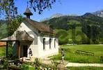Thumbnail Chapel and Mt Kaiseregg at lake Schwarzsee Alps fribourgoises Switzerland