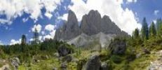 Thumbnail Peaks of the Geisler mountains, Puez-Geisler National Park, Wolkenstein, Alto Adige, Italy, Europe