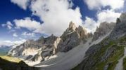 Thumbnail Peaks of the Puez mountains with Piz Duleda in Puez-Geisler National Park, Wolkenstein, Alto Adige, Italy, Europe