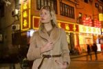 Thumbnail Young woman in the nightlife quarter of Shanghai, China, Asia