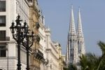 Thumbnail Votivkirche, row of houses in Reichsratstrasse, Vienna, Austria, Europe