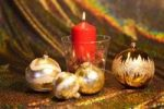 Thumbnail Christmas decoration with a red candle