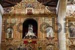 Thumbnail altar in church Nuestra Senora de Regla in Pajara , Fuerteventura , Canary Islands