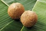Thumbnail Coconuts on banana leaves