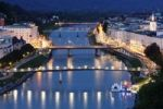Thumbnail Historic district of Salzburg with Salzach River, view from Humboldt-Terrace, Austria, Europe