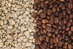 Thumbnail Coffee beans, roasted and unroasted