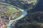 Thumbnail Aerial view, Lech River near Fuessen in Ostallgaeu, Allgaeu, Bavaria, Germany, Europe