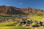 Thumbnail Valley of the Orange River or Gariep River, view across the Orange River towards Namibia / Richtersveld Transfrontier National Park, Northern Cape, South Africa, Africa