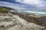 Thumbnail Limestone formations and a blowhole, Truman Bay, West Coast, South Island, New Zealand, Oceania