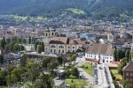 Thumbnail View of Innsbruck, Wiltern district with the Wilten Basilica, Wilten Abbey and cemetery, capital of Tyrol, Northern Chain, Alps, Austria, Europe, PublicGround
