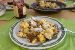 Thumbnail A plate of Kaiserschmarren pancakes with cranberry sauce, dessert, Austria, Europe