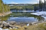 Thumbnail Fresh snow at Mesa Lake, Grand Mesa National Forest, Colorado, USA