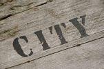 "Thumbnail Word """"City"""" on old sea chest"