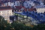 Thumbnail Kunsthaus, art house, view from Schlossberg, castle hill, Graz, Styria, Austria, Europe, PublicGround