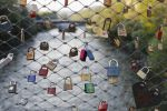 Thumbnail Love locks, padlocks, as a sign of live, at the main bridge over the Mur river, Graz, Styria, Austria, Europe
