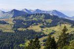 Thumbnail Mountains of Illingerberg, Gennerhorn and Gruberhorn, view from Zwoelferhorn Mountain / Zwoelferhorn, Sankt Gilgen, Salzkammergut, Salzburg State, Austria, Europe