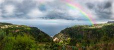 Thumbnail Rainbow above the cliffs at Arco de Sao Jorge / São Jorge, Funchal, Ilha da Madeira, Portugal, Europe