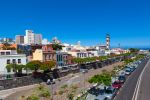 Thumbnail Capital of Santa Cruz de Tenerife with the Barranco de Santos and steeple of the Nuestra Señora de la Concepcion church / Teneriffa, Santa Cruz De Tenerife, Teneriffa, Kanarische Inseln, Sp