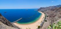 Thumbnail The sandy beach of Playa de las Teresitas, bird's eye view / San Andrés, La Montañita, Teneriffa, Kanarische Inseln, Spain, Europe