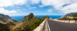 Thumbnail Winding mountain road in the Anaga Mountains near the village of Taganana / Azano, Taganana, Teneriffa, Kanarische Inseln, Spain, Europe