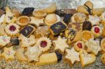 Thumbnail Homemade Christmas cookies, Bavaria, Germany, Europe