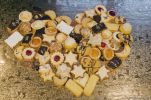 Thumbnail Homemade Christmas cookies, arranged in heart shape, Bavaria, Germany, Europe