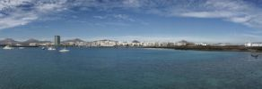 Thumbnail City panorama of Arrecife, as seen from the sea / Arrecife, Lanzarote, Kanarische Inseln, Spain, Europe