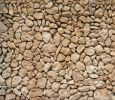 Thumbnail Typical Balearic dry stone wall made of yellow and red boulders /